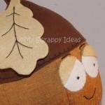 Autumn Acorn with an Oak Leaf