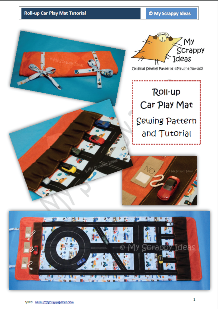 Roll-up Car Play Mat - front page tutorial